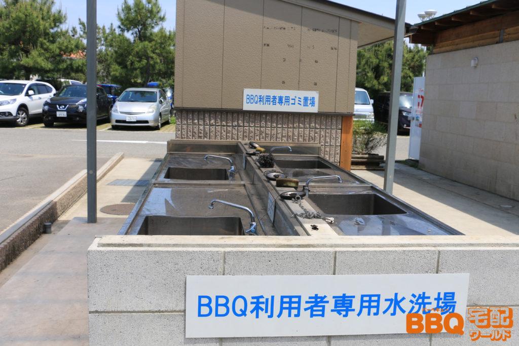芦屋浜BBQコーナー洗い場