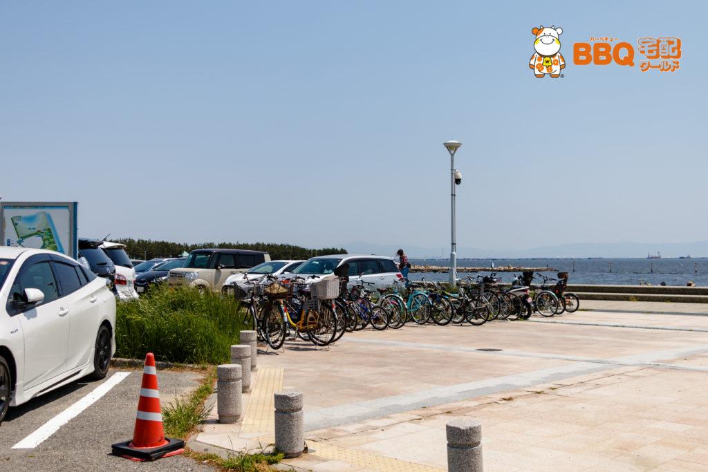 芦屋浜BBQコーナー駐輪所