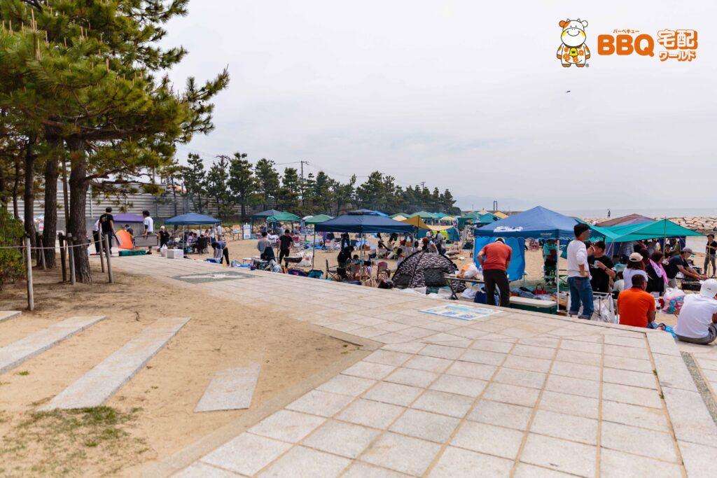 林崎松江海岸東側BBQエリア(2019年5月)