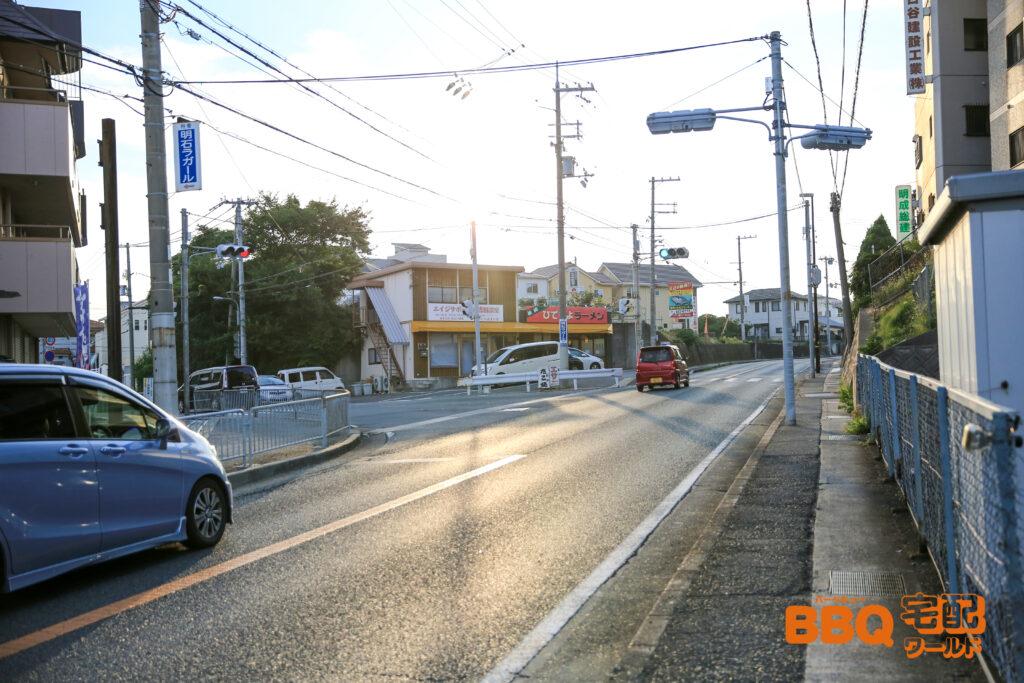 林崎松江海岸BBQエリアまでの車でのアクセス1