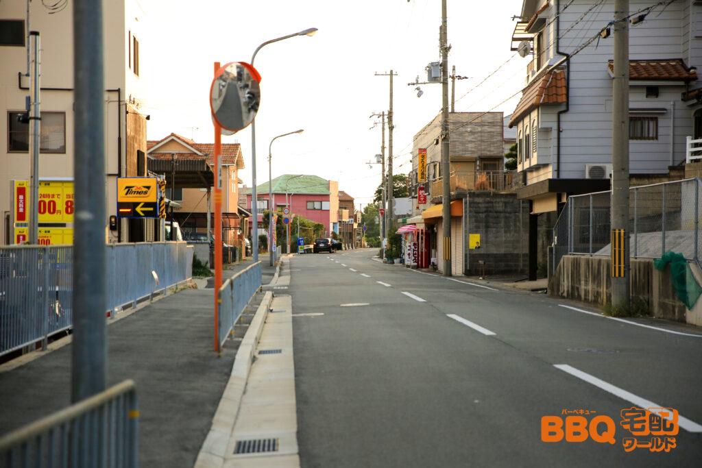 林崎松江海岸BBQエリアまでの車でのアクセス2