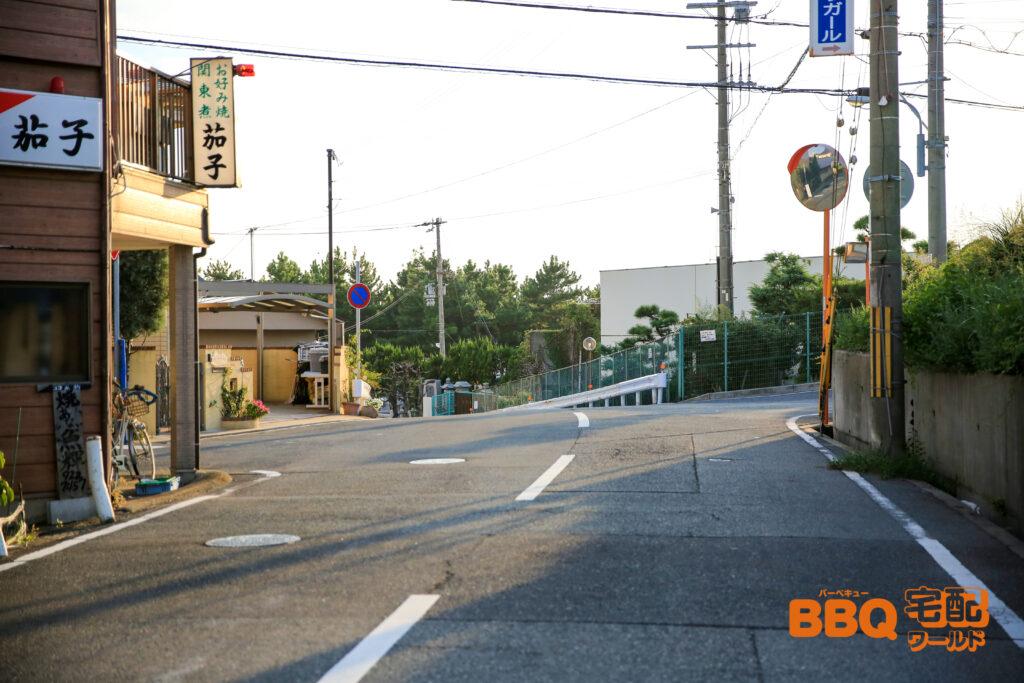 林崎松江海岸BBQエリアまでの車でのアクセス3