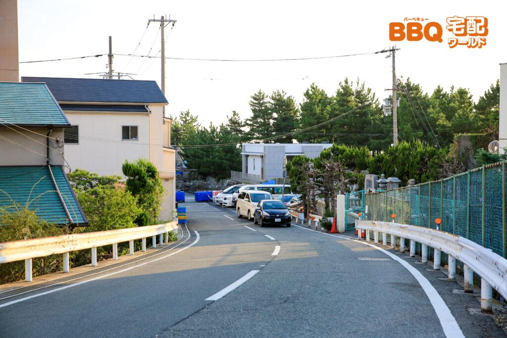 林崎松江海岸BBQエリアまでの車でのアクセス4