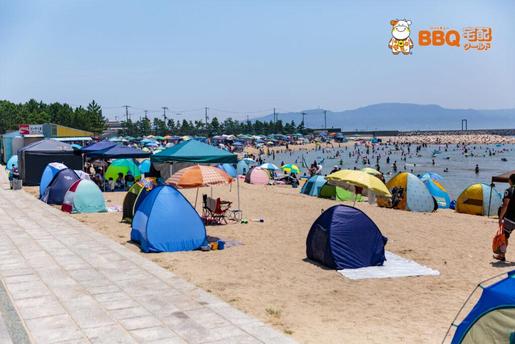 林崎松江海水浴場の西側BBQエリア