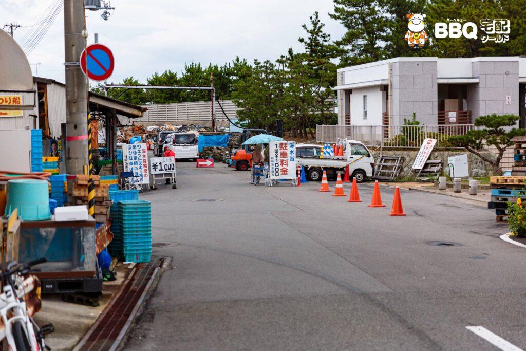 林崎松江海岸東側BBQエリア駐車場