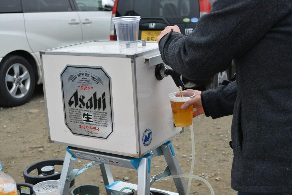 BBQと生ビールサーバー