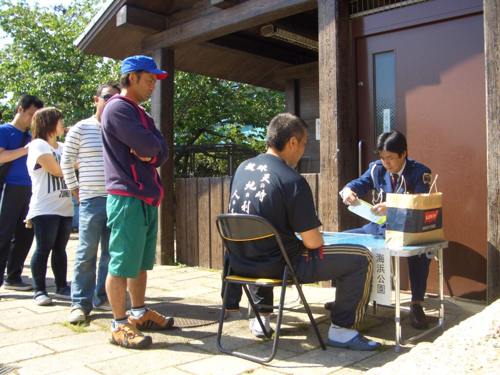 甲子園浜海浜公園BBQ臨時許可管理事務所