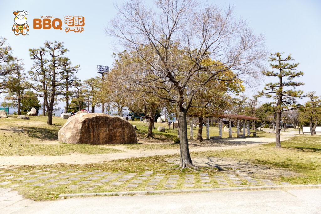 甲子園浜海浜公園BBQエリア石碑