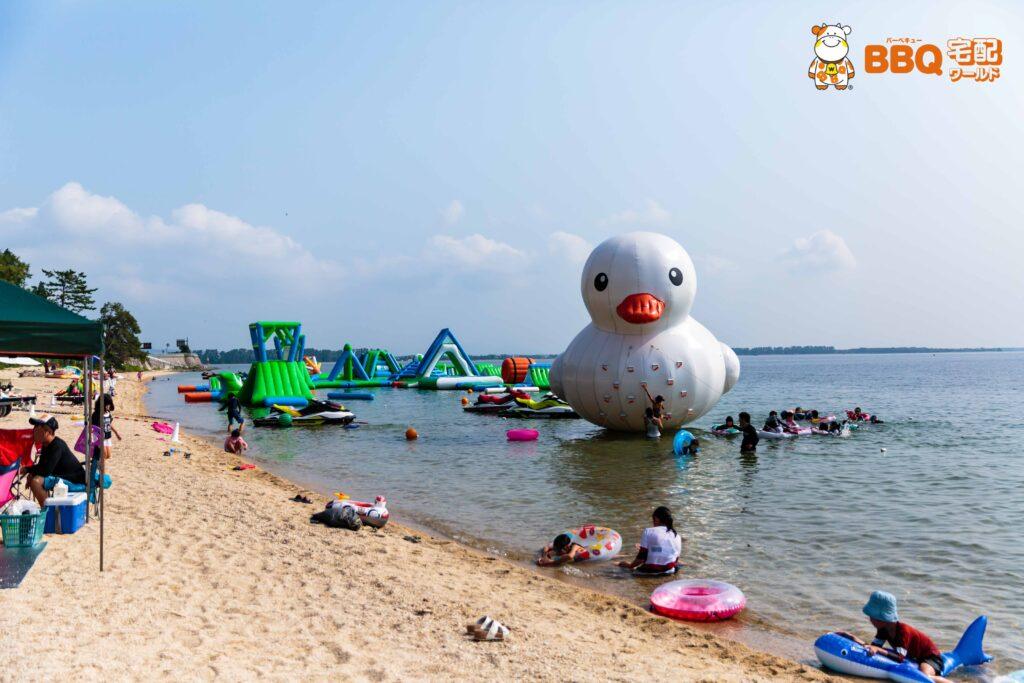 白ひげ浜水泳キャンプ場のウォーターパーク