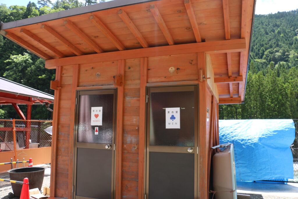 坪の内オートキャンプ場更衣室