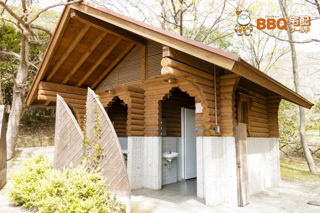 市ノ池公園のBBQサイト奥のトイレ