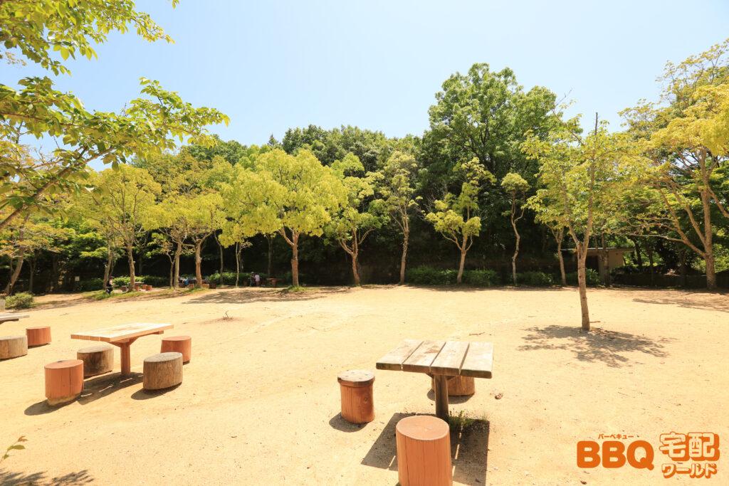 奥須磨公園BBQ広場の全景