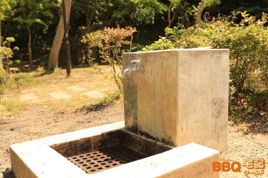 奥須磨公園BBQ広場の水道