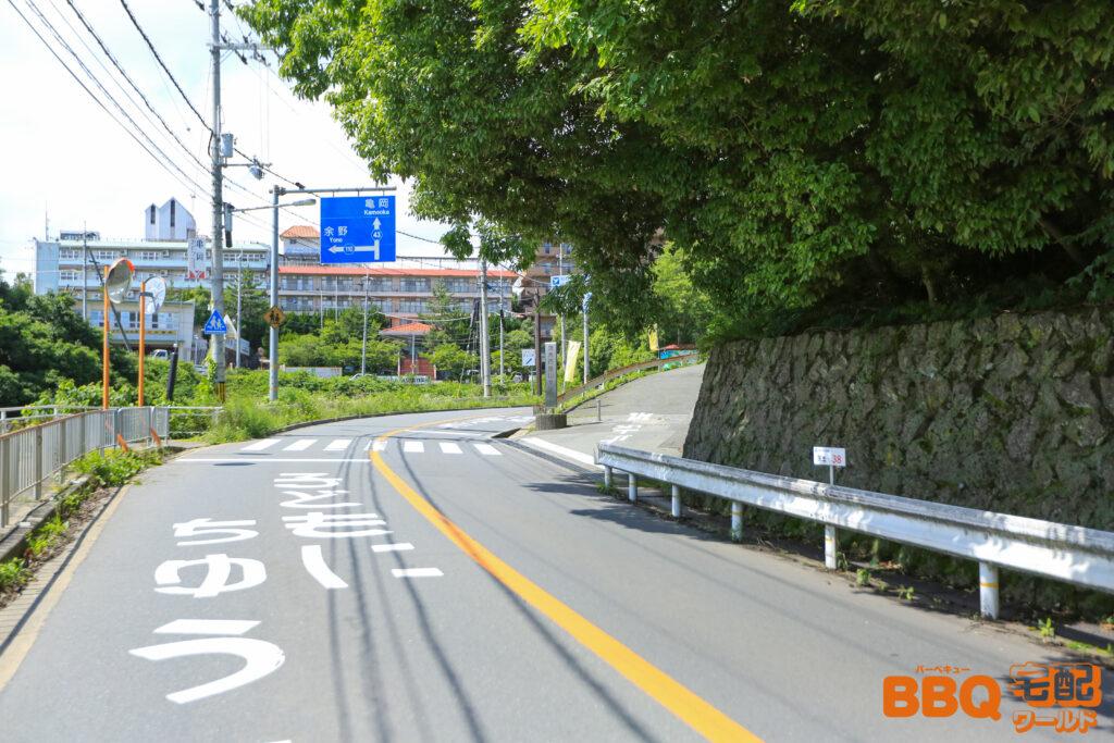 茨木市里山センターアクセス(府道110号線)