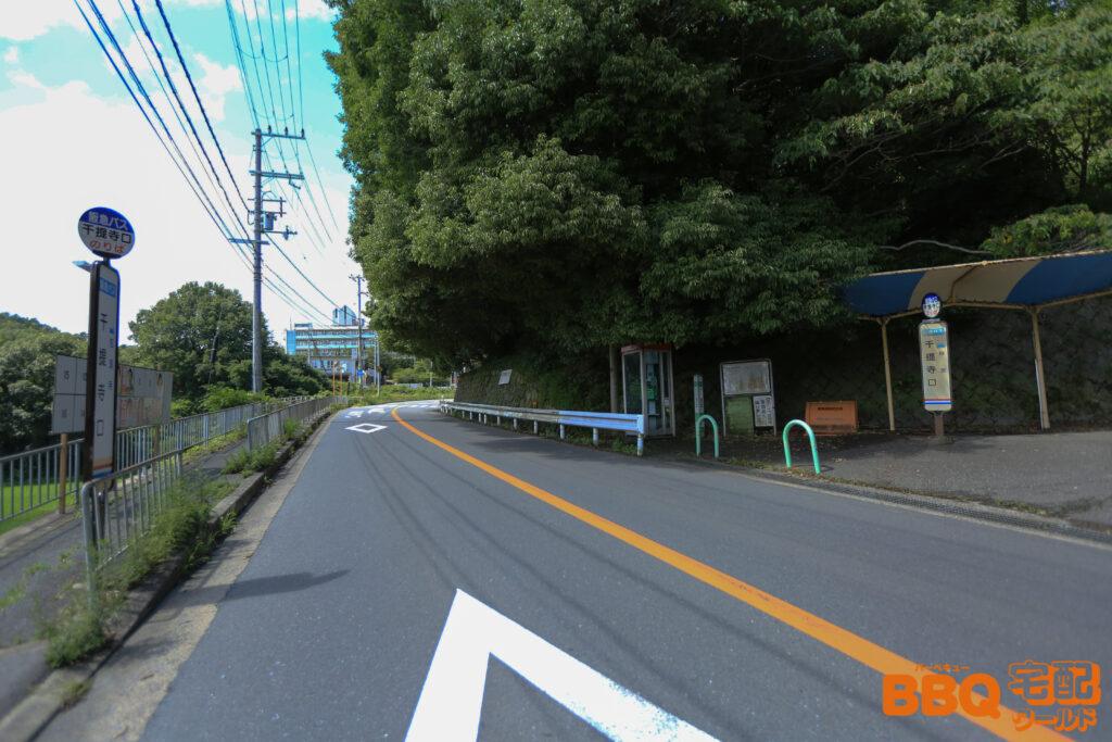 茨木市里山センターのバス停