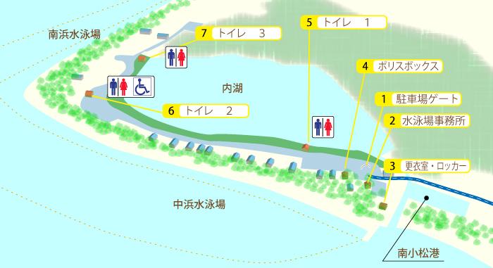 近江舞子中浜水泳場の地図