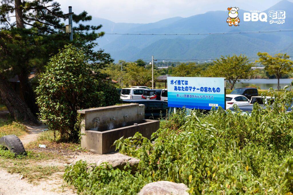 近江舞子中浜水泳場BBQエリアの水道