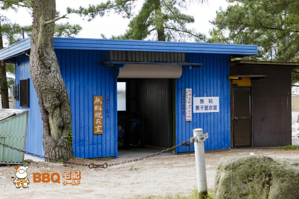 近江舞子中浜水泳場BBQエリアの男子更衣室