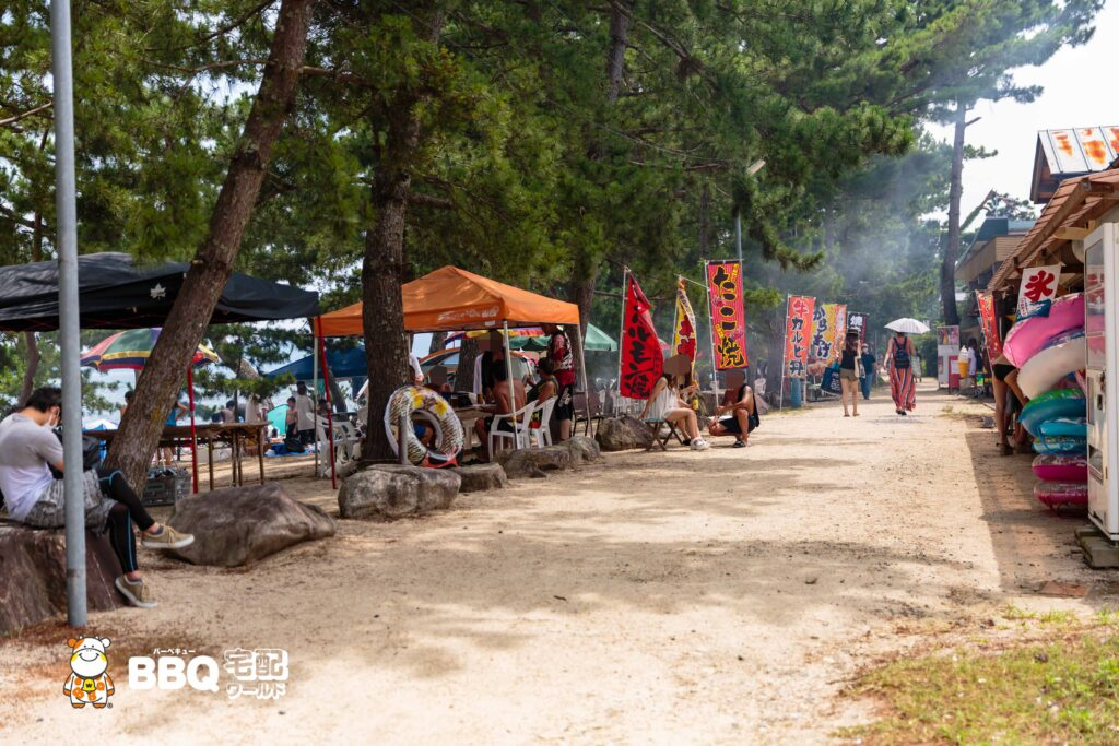 近江舞子中浜水泳場の休憩所