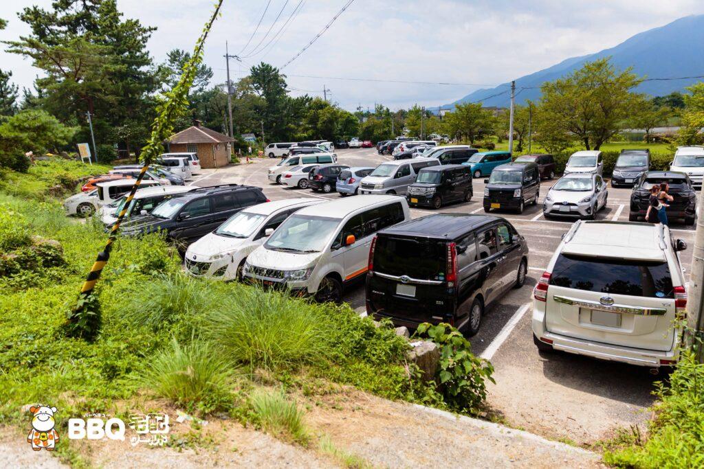 近江舞子中浜水泳場の駐車場