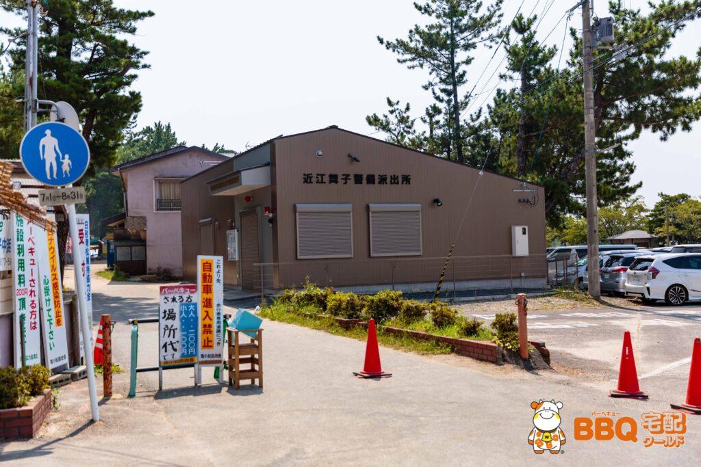 近江舞子中浜水泳場のポリスボックス
