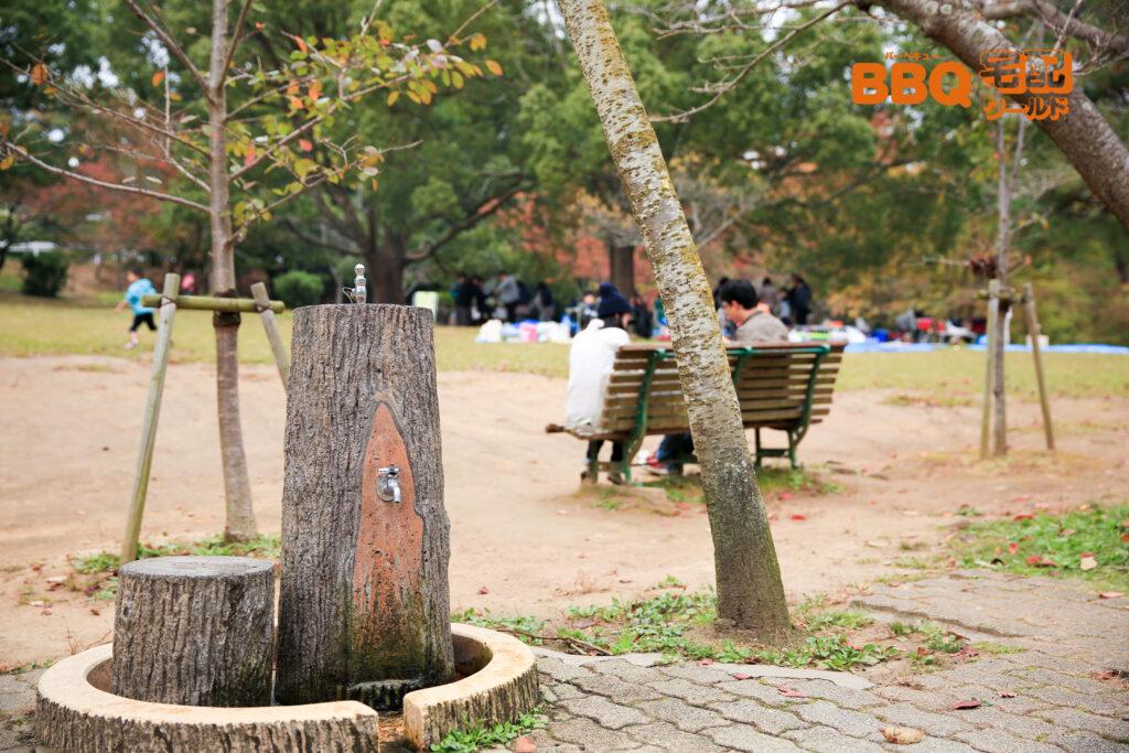 日岡山公園BBQエリアの水道