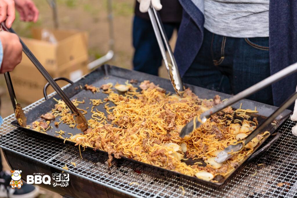 日岡山公園BBQ焼きそば