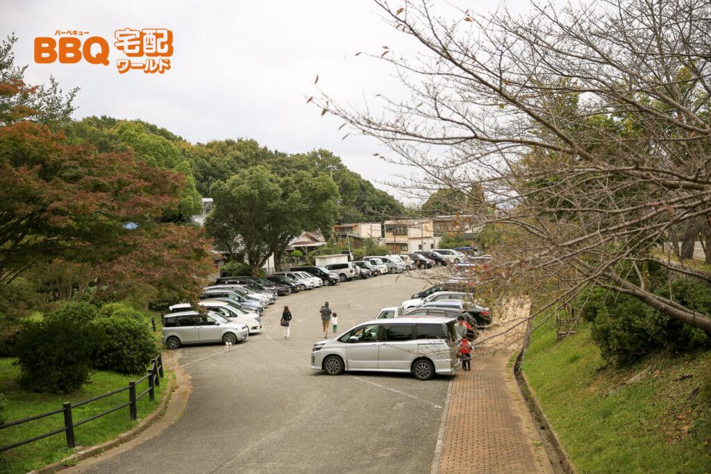 日岡山公園第1駐車場全景