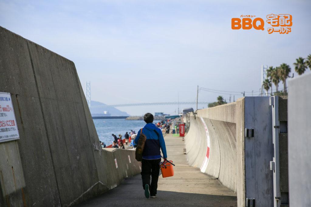 平磯海釣り公園釣り場へと続くスロープ
