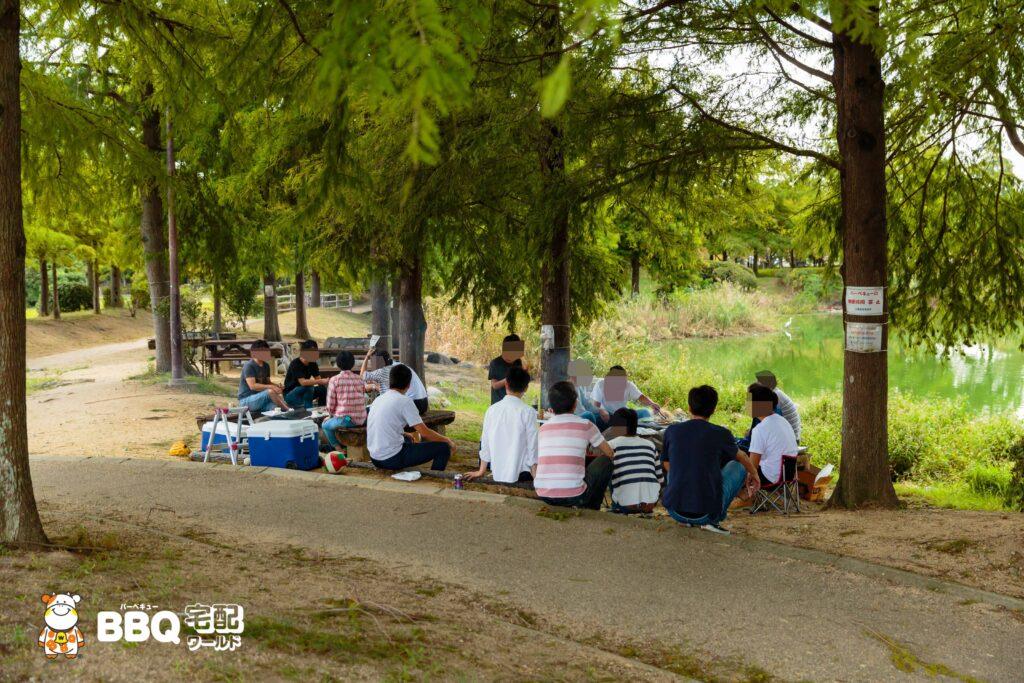 天満大池公園BBQ利用風景
