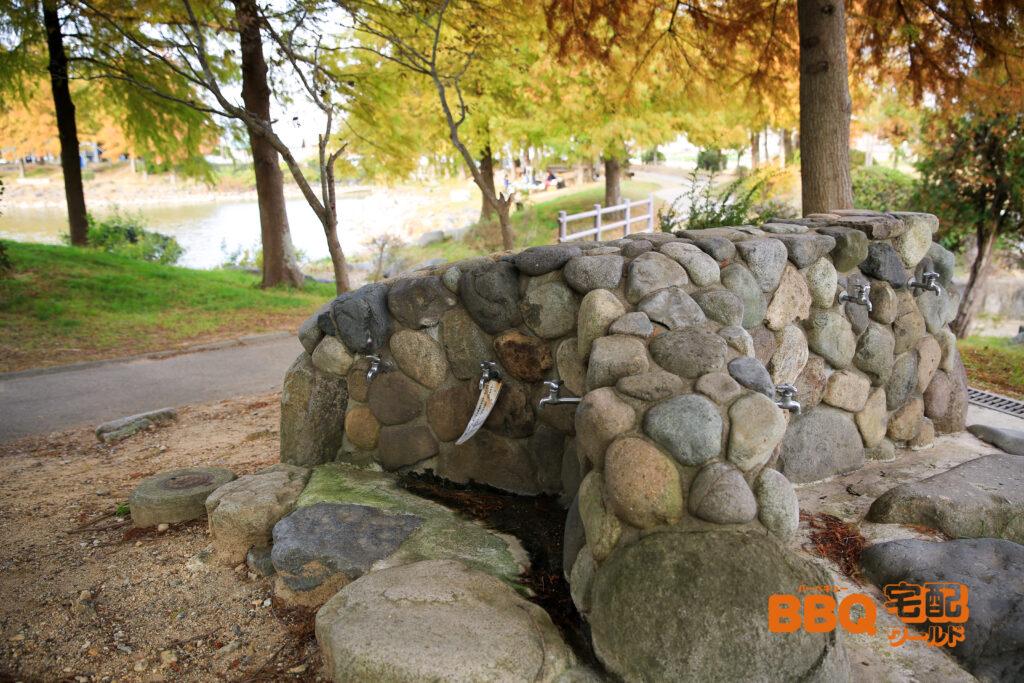天満大池公園BBQサイトの水道