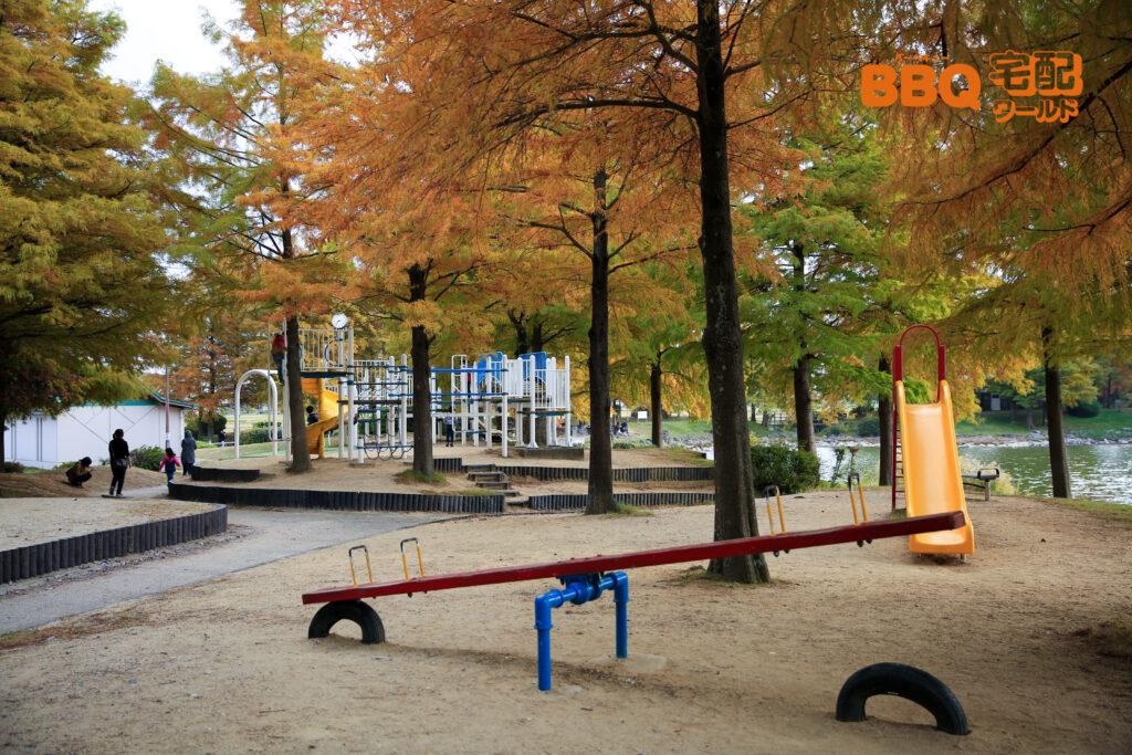 天満大池公園の遊具広場