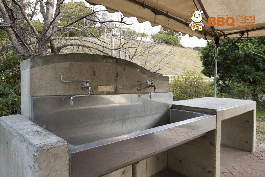 BBQガーデン羽衣テントサイト水道
