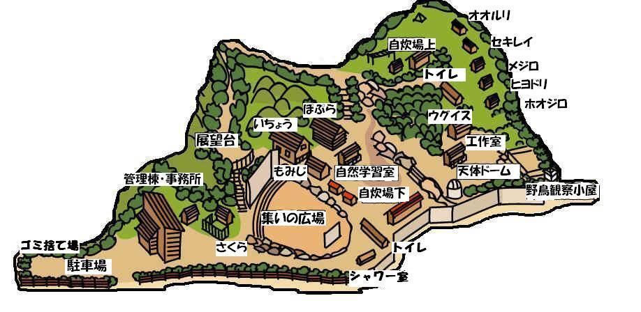 寝屋川市野外活動センター地図