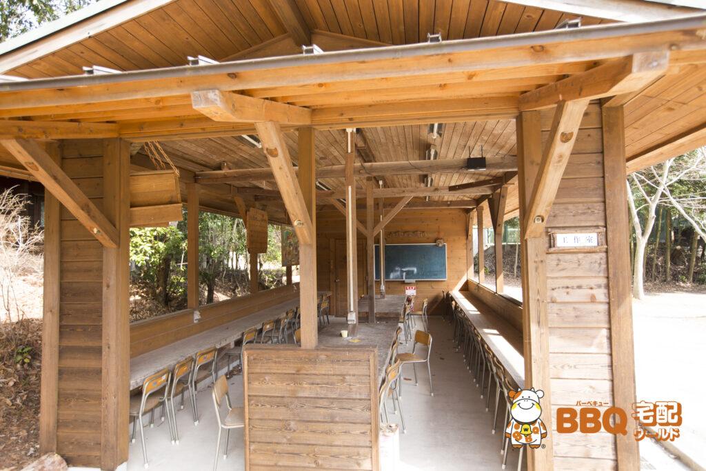 寝屋川市野外活動センターの工作室