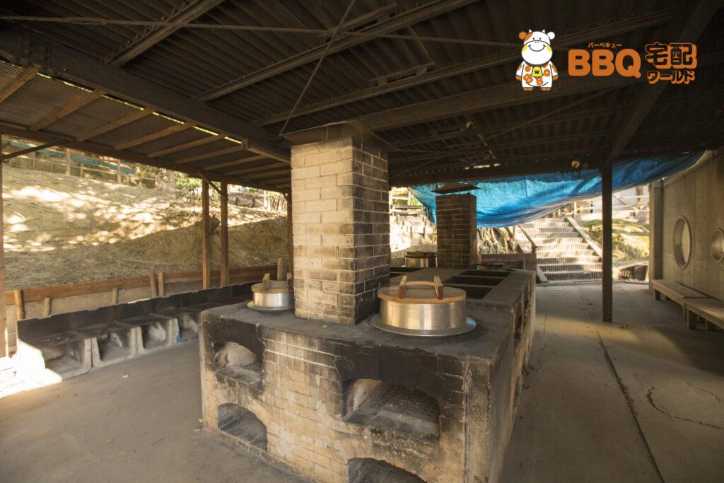 吹田市わくわくの郷の野外食堂の窯用炉