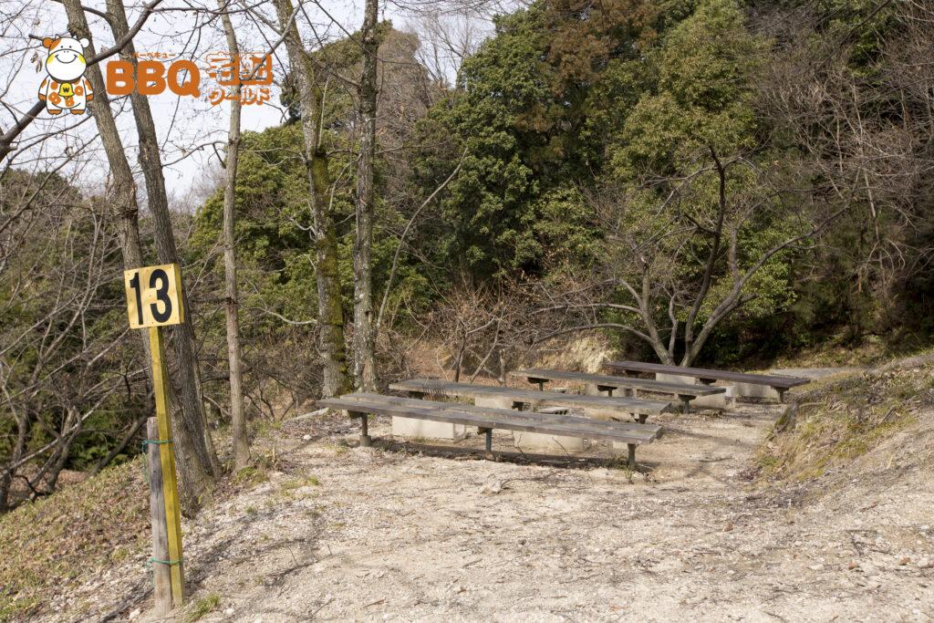 やまびこ園の林間BBQ13番