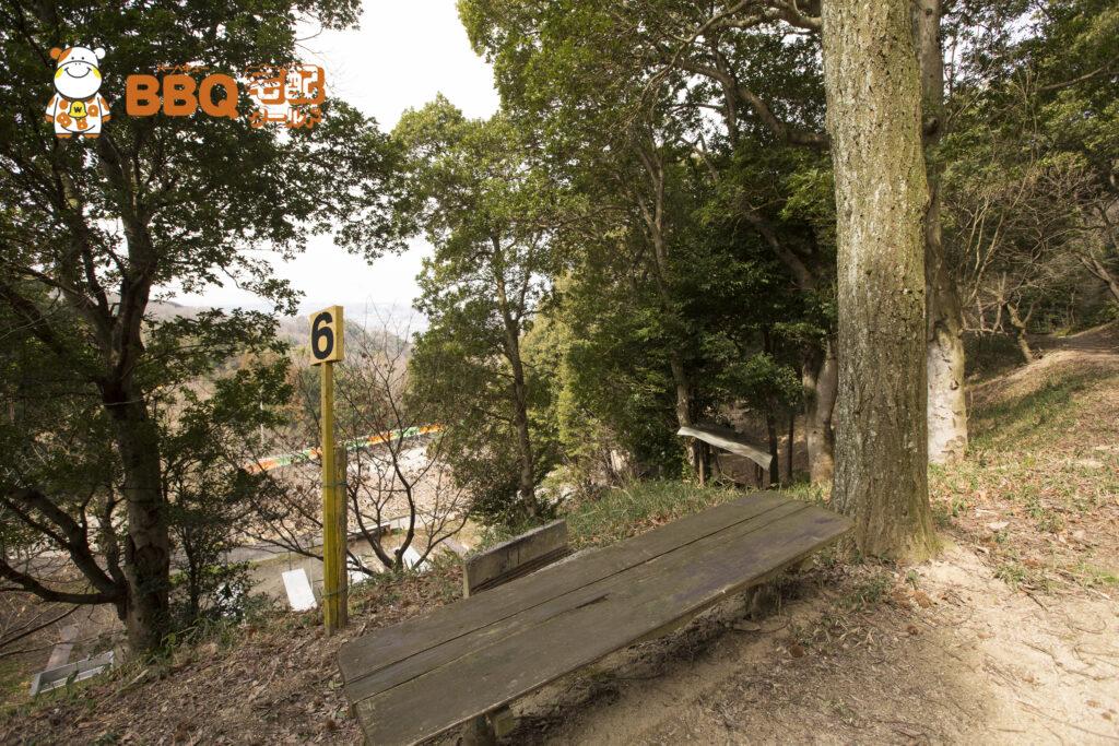 やまびこ園の林間BBQ6番