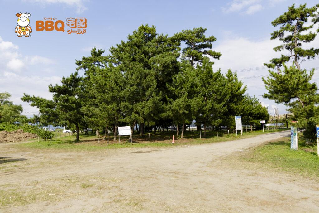 琵琶湖神明キャンプ場BBQサイト
