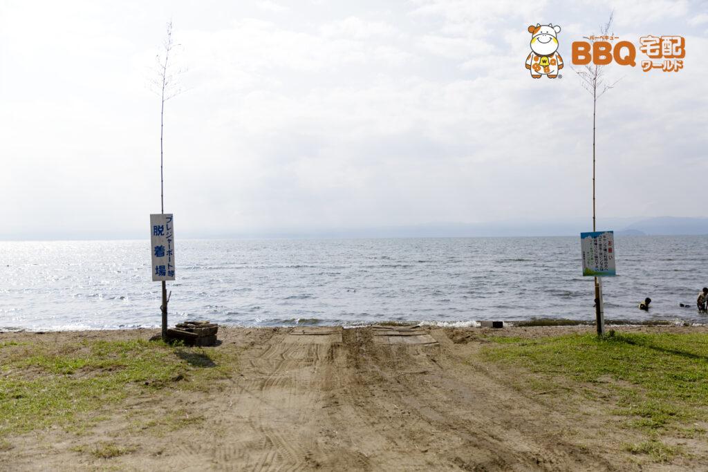琵琶湖神明キャンプ場ボート場