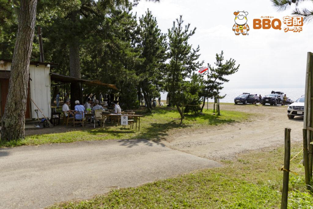 琵琶湖神明キャンプ場受付