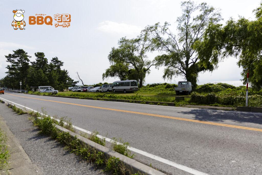 琵琶湖神明キャンプ場駐車場