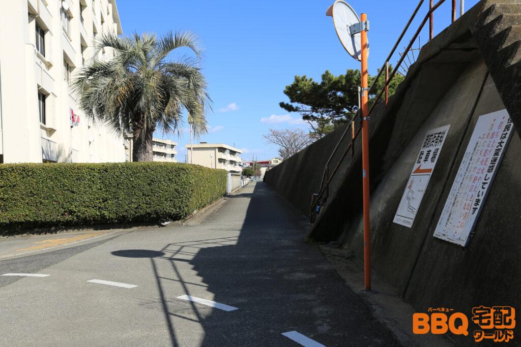 御前浜BBQエリアアクセス(御前浜防波堤沿い)