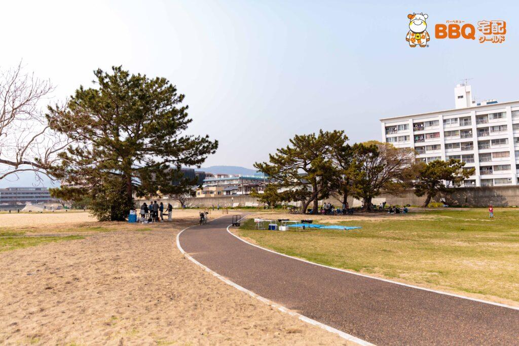 御前浜BBQエリアの遊歩道9