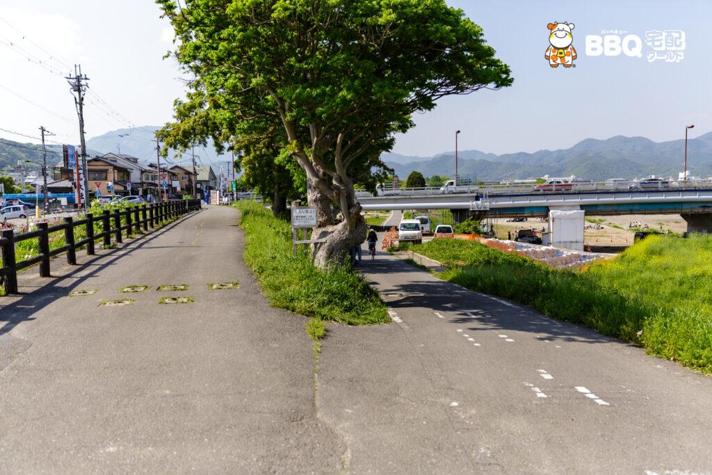 松尾橋BBQ場へのアクセス3