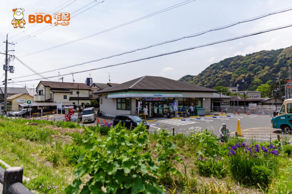 松尾橋BBQ場横のファミリーマート駐車場