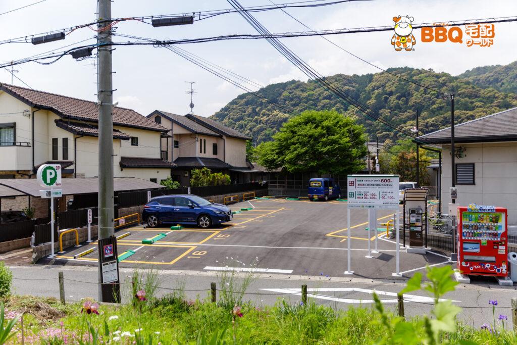 松尾橋BBQ場横の三井のリパーク駐車場
