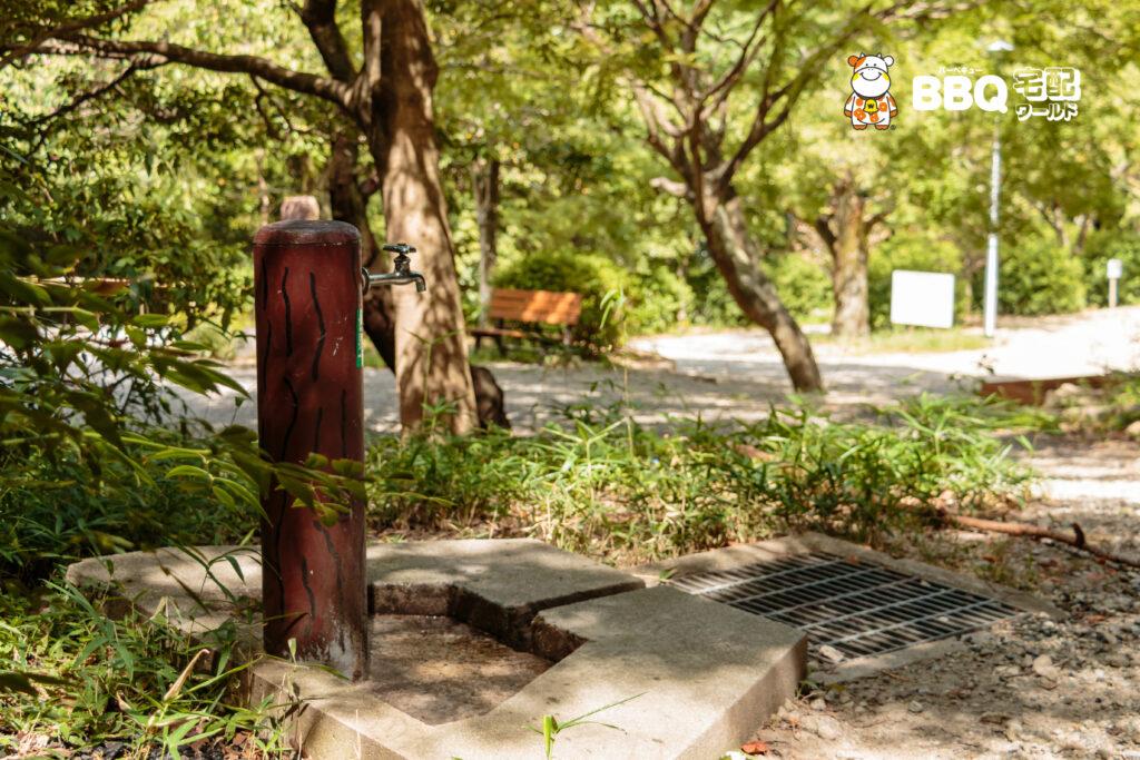 五月山公園BBQ広場上側水道