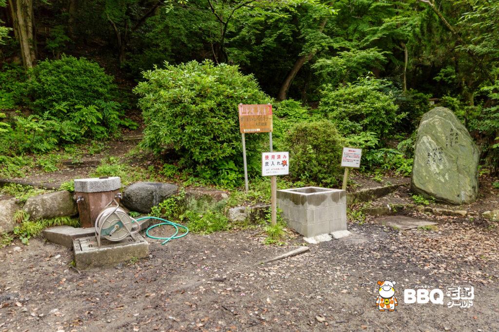 五月山公園BBQ広場の炭捨て場