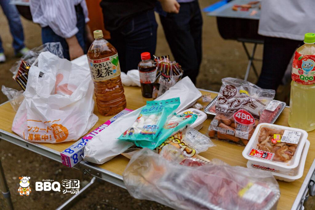 五月山公園での校外学習BBQ食材